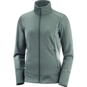 Salomon Discovery Midlayer Doorlopende Rits Dames, green gab